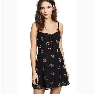 NWT For Love and Lemons Cherry Twist Dress